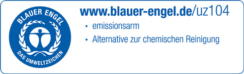 """Umweltzeichen """"Blauer Engel"""" uz104"""