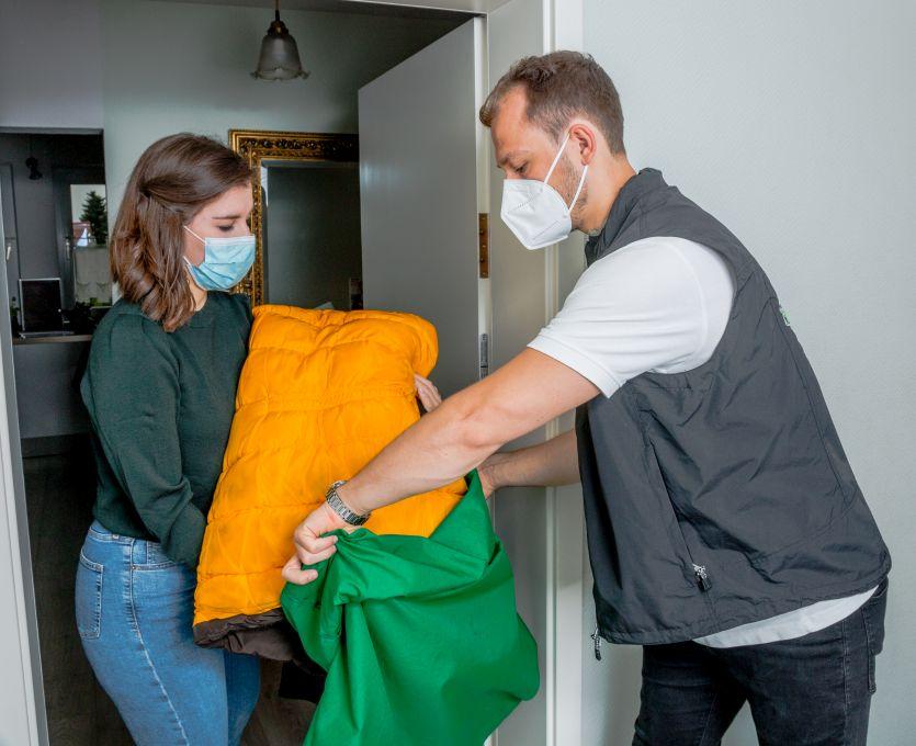 Textilreinigung Lieferservice Wäsche abnehmen